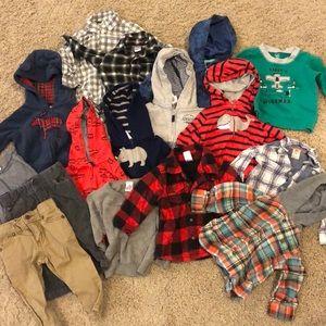 Other - 9 month boy winter bundle pants flannel jacket